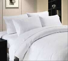 Duvet Cover Set King Size White Solid 1500 Thread count 100% Egyptian Cotton