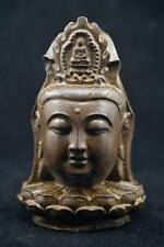 Chinese agalloch eaglewood wood antique hand-carved statue Guanyin Buddha first