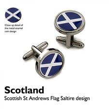 Scottish Flag CUFFLINKS St Andrews Cross Saltaire Christmas BIRTHDAY PRESENT