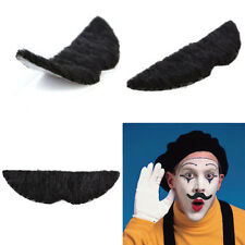 Set of 12 Stylish Costume Funny Fiesta Party Fake Moustache Mustaches Black