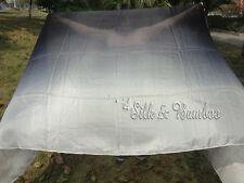 "black-white 3yd*45"" belly dance silk veil+bag, light 5mm silk, edges rolled"