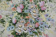 "French Printed Chintz Fabric LES VERTS PRES PARIS 2 yds. 20""  Edge was sewn"
