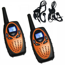 2PCS Handheld Walkie Talkies FRS/GMRS PMR446 8/22CH 2 Way Radios With Earphones