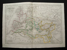 1847cFROM DELAMARCHE ATLAS:L'IMPERO ROMANO DOPO AUGUSTO, EUROPA,ASIA MINORE.ETNA