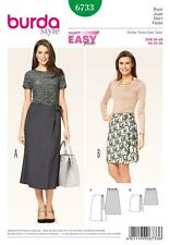 BURDA SEWING PATTERN MISSES' SUPER EASY WRAP SKIRT SIZES 10 - 20  6733 BURDA