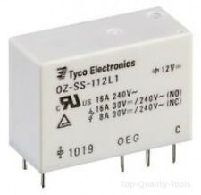 RELAY, PCB, SPST-NO, 12VDC, 16A Part # TE CONNECTIVITY / OEG OZ-SS-112LM1F,000