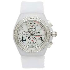 TECHNOMARINE UNISEX CRUISE CHRONOGRAPH 2 BANDS  96 GENUINE DIAMONDS 44mm 108029