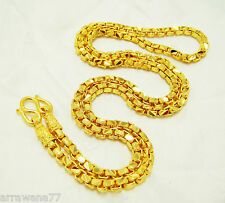 "Chain 22K 23K 24K THAI BAHT GOLD GP NECKLACE 24"" Jewelry N 80"