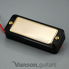 NEW Wilkinson WMHR AlNiCo V Mini Humbucker Pickup, P90, Gold, Black Ring
