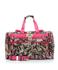 BNB LICENSED PINK CAMO CAMOUFLAGE LUGGAGE TRAVEL CASE TOTE DUFFLE BAG 3183