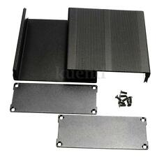 Black Aluminum Case DIY Project Electronic Line Protection Box + Mounting Screws