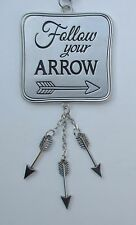a FOLLOW YOUR ARROW Car charm mirror ornament Ganz rear view
