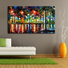 Modern hand-painted Art Oil Painting Wall Decor canvas,Woods Street(No Frame)