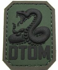 DTOM DON'T TREAD ON ME PVC TEA PARTY SNAKE ARMY FOREST VELCRO® BRAND PATCH