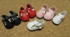 Doll Shoes, 46mm PINK T-Straps for Ann Estelle, Tonner Patsy, Others