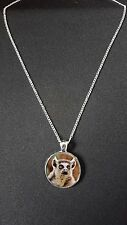 "Lemur Pendant On 18"" Silver Plated Fine Metal Chain Necklace Gift N460"