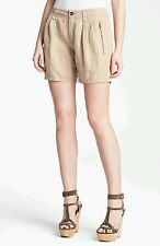 NWT Burberry Brit Beechdale Beige shorts size 42 US size 8 receipt