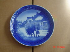 Royal Copenhagen Collectors Plate 1980 BRINGING HOME THE CHRISTMAS TREE