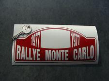 Stickers Rallye Monte Carlo 1977 S.Munari / S.Maiga 19cm Ref: B07-348