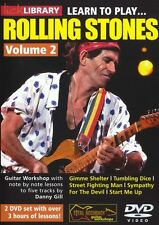 LICK LIBRARY Learn to Play THE ROLLING STONES ROCK LESSON TUTOR GUITAR DVD Vol 2