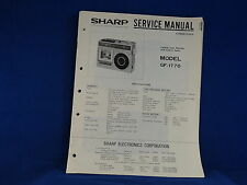 Sharp GF-1770 Radio Cassette Player Service Manual