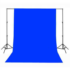 Photography Studio Backdrop 100% Cotton Muslin 1.8M x 2.8M Background - Blue