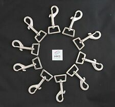 "10x 25mm 1"" Square Eye Heavy Duty Snap Hook Trigger Clip Clasp Dog Horse Lead"