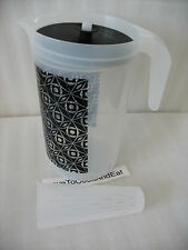 Tupperware 1 Gallon Push Button Pitcher With Infuser Black Deco Vibe Beverage