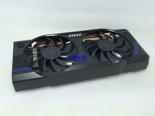 MSI GTX460 GTX560 Extreme V5 Graphics Card heat sink Two Heat Pipe Mute Dual Fan
