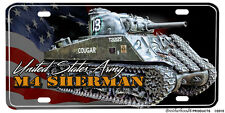 United States Army M4 Sherman Tank Aluminum License Plate