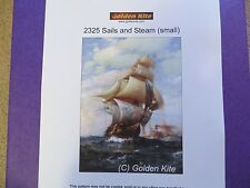 40% Off Golden Kite Counted X-stitch chart - #2325 Sails and Steam (Small)