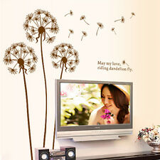 Flying Dandelion Removable Vinyl Art Wall Sticker Decal Mural Home Room Decor