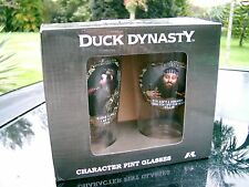 Duck Dynasty A&E  (2) NEW  BOXED PINT GLASSES PHIL AND WILLIE CHARACTERS NEW