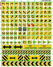 9000-Y HO DECALS 1:87 ASSORTED TRAFFIC AND ROAD SIGNS FLAT RATE SHIPPING