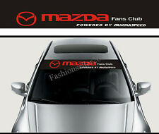Mazda Front Windshield Banner Decal Car Stickers for MAZDA Club Auto Decorations