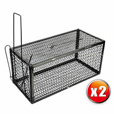2 x Rat Catcher Spring Cage Trap Humane  Live Animal Rodent Indoor Outdoor