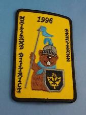 BOY SCOUTS SCOUTS BEAVER CANADA MAITLAND DISTRICT 1996 PATCH COLLECTOR BADGE