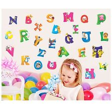 Kids A-Z Alphabet&Animals Vinyl Mural Wall Stickers Nursery Decals Room Decor W