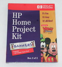 HP Home Project Kit Banners Box 2/2 Mickey Mouse SEALED