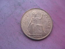 THE LAST 1967 BRITISH ONE PENNY COIN UNC LUSTRE