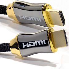 Braided Ultra HD HDMI v2.0 Cable High Speed + Ethernet 3D 4k 2160p HDTV HQ Gold