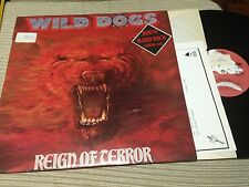 "WILD DOGS - REIGN OF TERROR 12"" LP ENIGMA 87 SPAIN HEAVY METAL HARD ROCK"