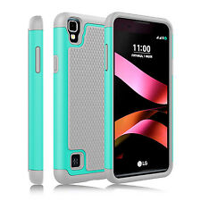 Hybrid Armor Hard Rubber Phone Case Cover For LG Tribute HD / LG X Style / LS676