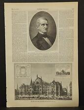 Harper's Weekly Single Page B1#59 May 1878 Reuben R. Springer & New Music Hall