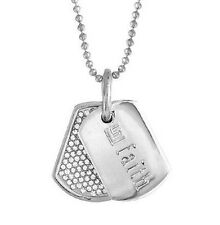 "StellaValle Swarovski Crystal DogTag Necklace by LoriGreiner Silver Plated 20"" L"