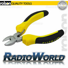 Rolson Mini Side Cutting Soft Grip Pliers Craft Wire Cable Snips Cutters 21015