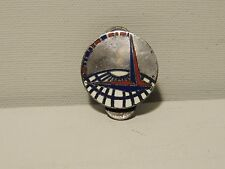 VINTAGE STERLING & ENAMELED WORLD FAIR PIN LE VETTE & CO.