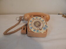 GTE vintage telephone Desk Rotary Works Tan With Volumn dial Amplifier ta-20a