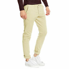 Mens Chino Trousers Slim Fit Cotton Casual Jeans Stallion Khakis New Designer