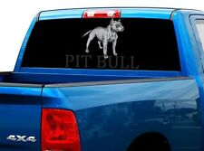 P517 Pit Bull Rear Window Tint Graphic Decal Wrap Back Truck Tailgate